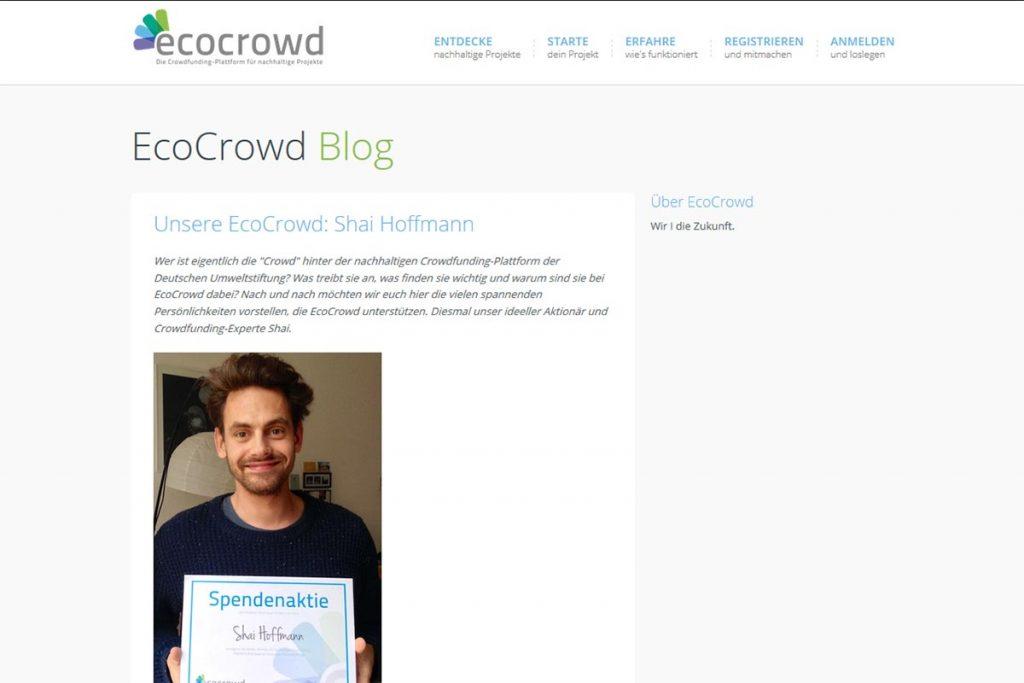 ecocrowd - die Crowdplattform für nachhaltige Projekte