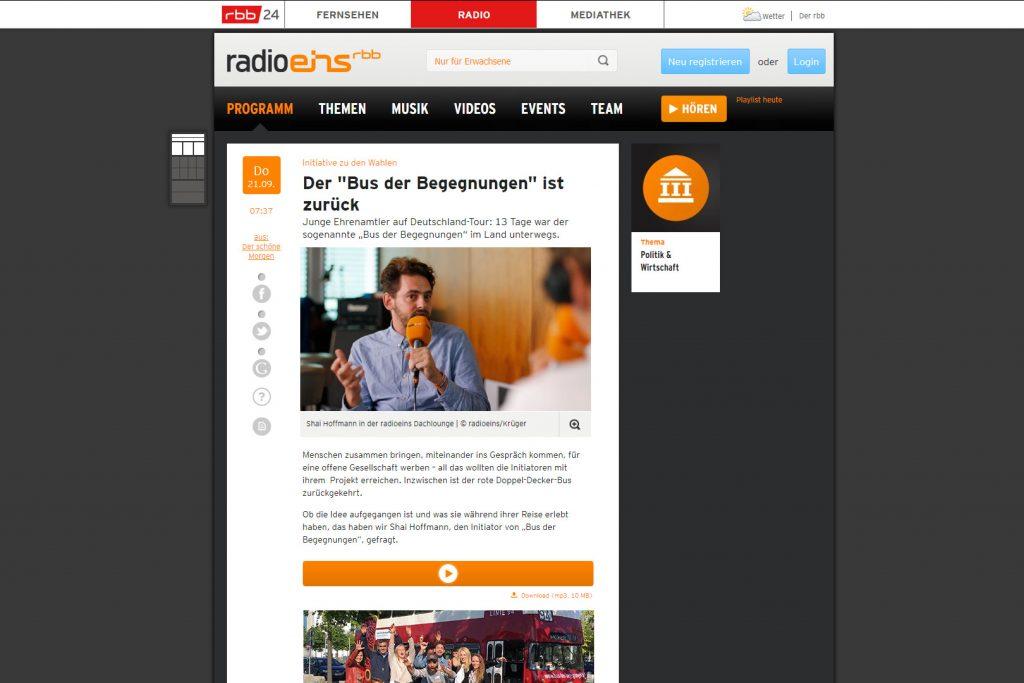 radioeins Dachlounge Interview