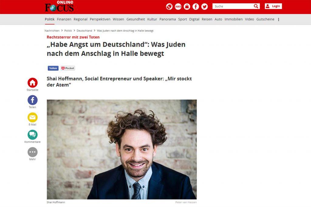 Focus online - Was Juden nach dem Anschlag in Halle bewegt