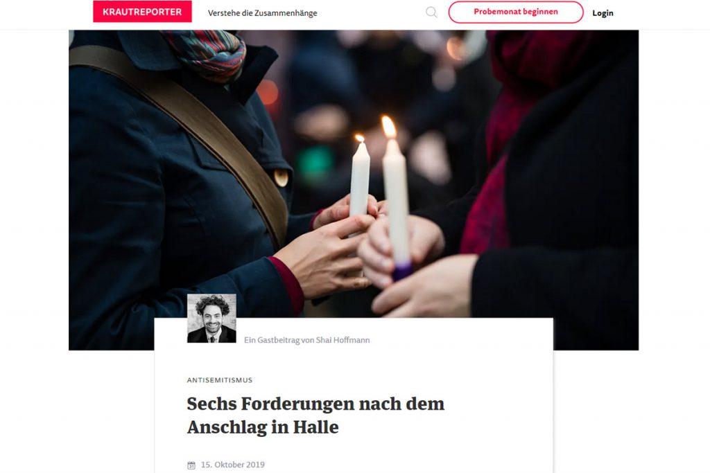 Krautreporter - Sechs Forderungen nach dem Anschlag in Halle