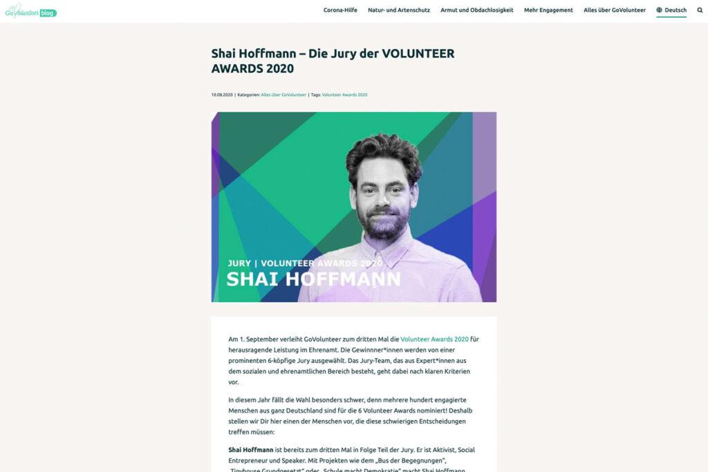 goVolunteer – Die Jury der Volunteer Awards 2020
