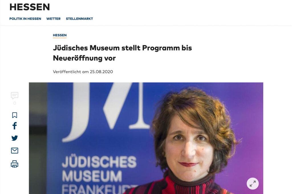 Die Welt – Programm des jüdischen Museums Frankfurt