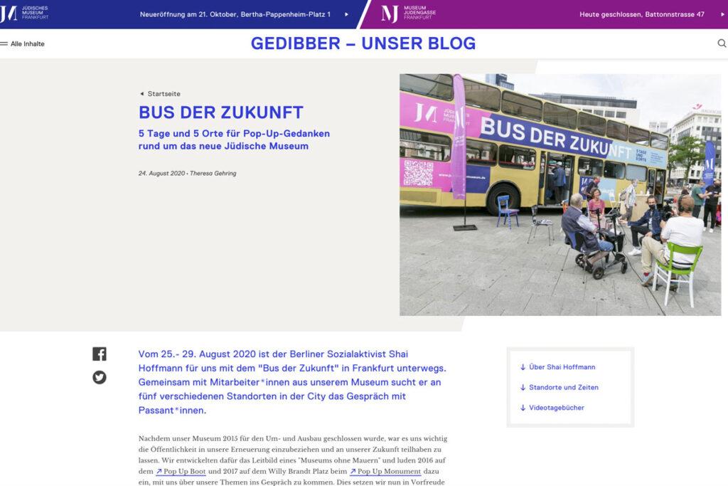 Jüdisches Museum Frankfurt – Über den Bus der Begegnung
