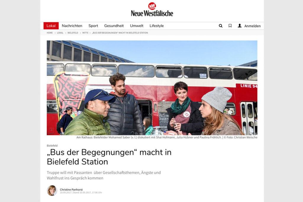 Neue Westfälische – Bus der Begegnungen